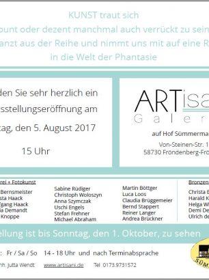Einladung zur Ausstellungseröffnung am 05.08.2017